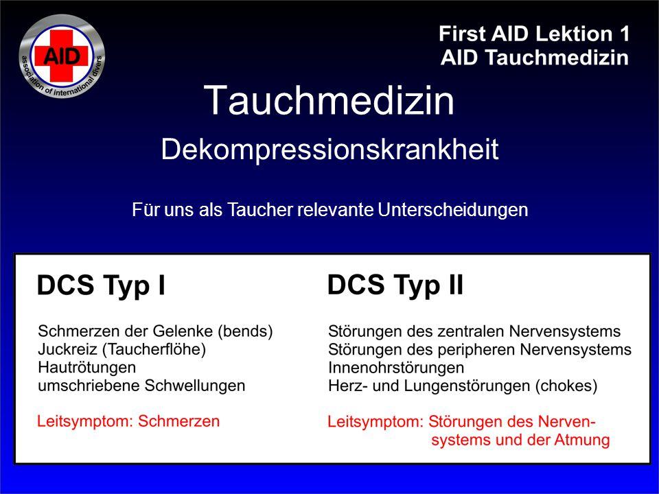 Tauchmedizin Dekompressionskrankheit