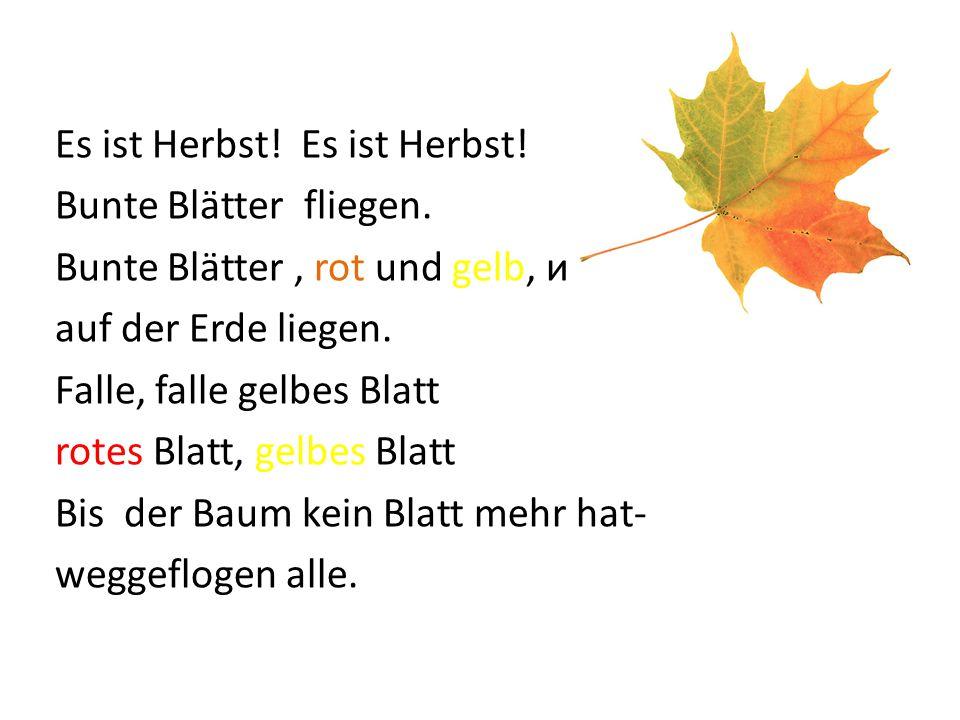Es ist Herbst! Es ist Herbst!
