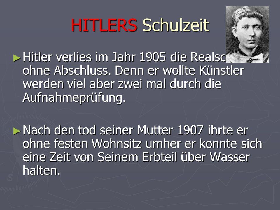 HITLERS Schulzeit