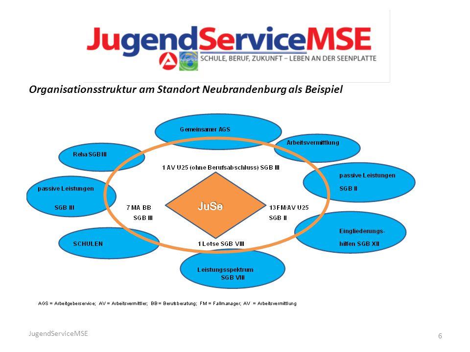 Organisationsstruktur am Standort Neubrandenburg als Beispiel