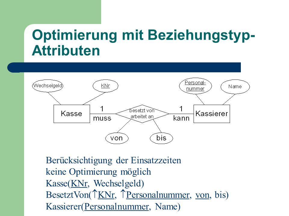 Optimierung mit Beziehungstyp-Attributen