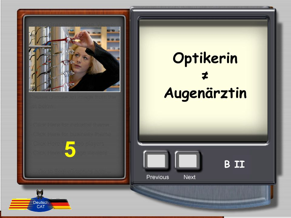 Optikerin ≠ Augenärztin