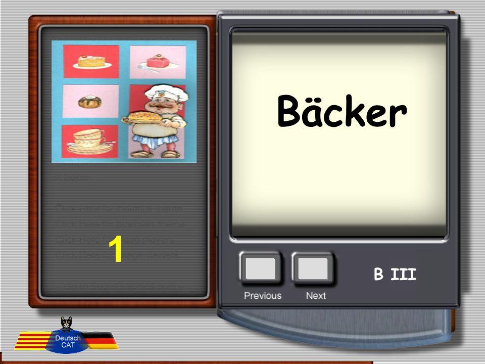 Bäcker 1 B III