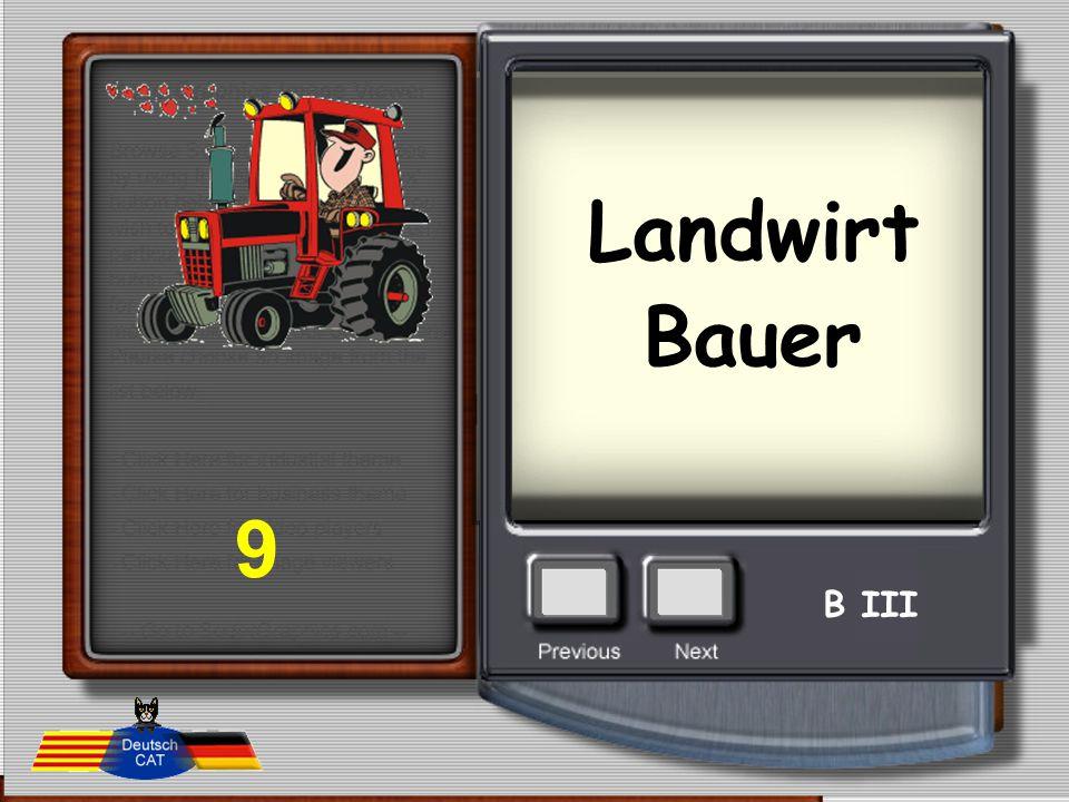 Landwirt Bauer 9 B III