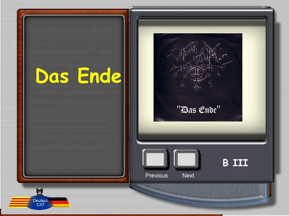 Das Ende B III