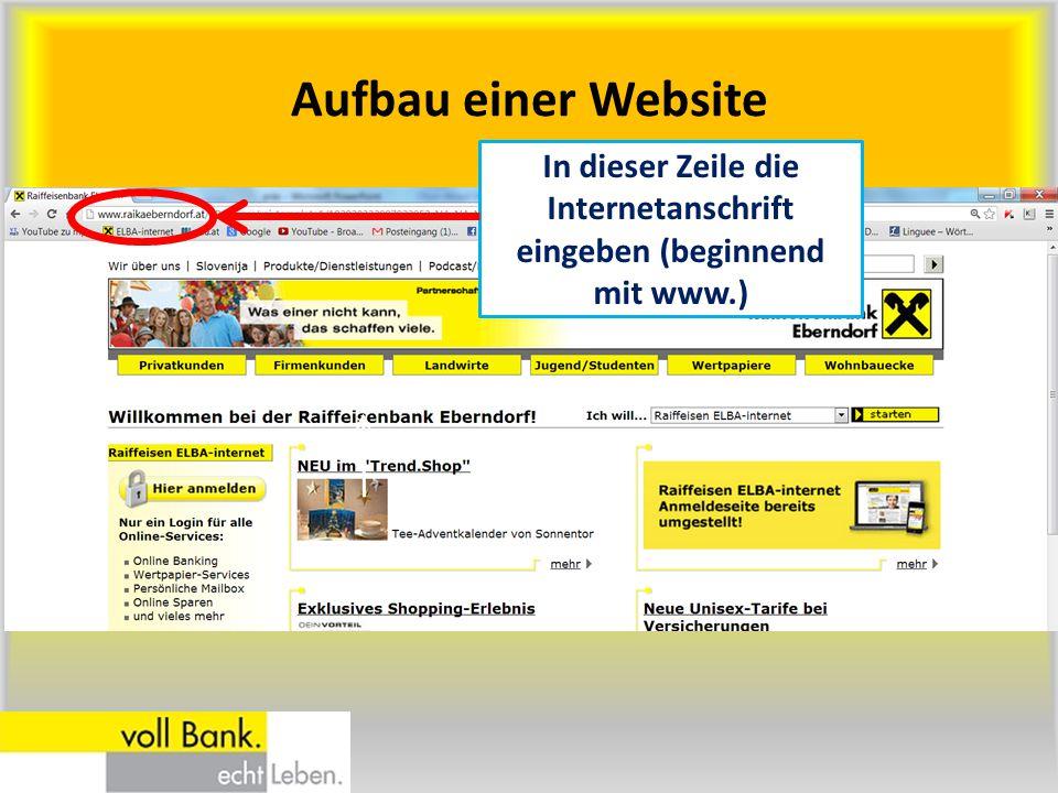 In dieser Zeile die Internetanschrift eingeben (beginnend mit www.)