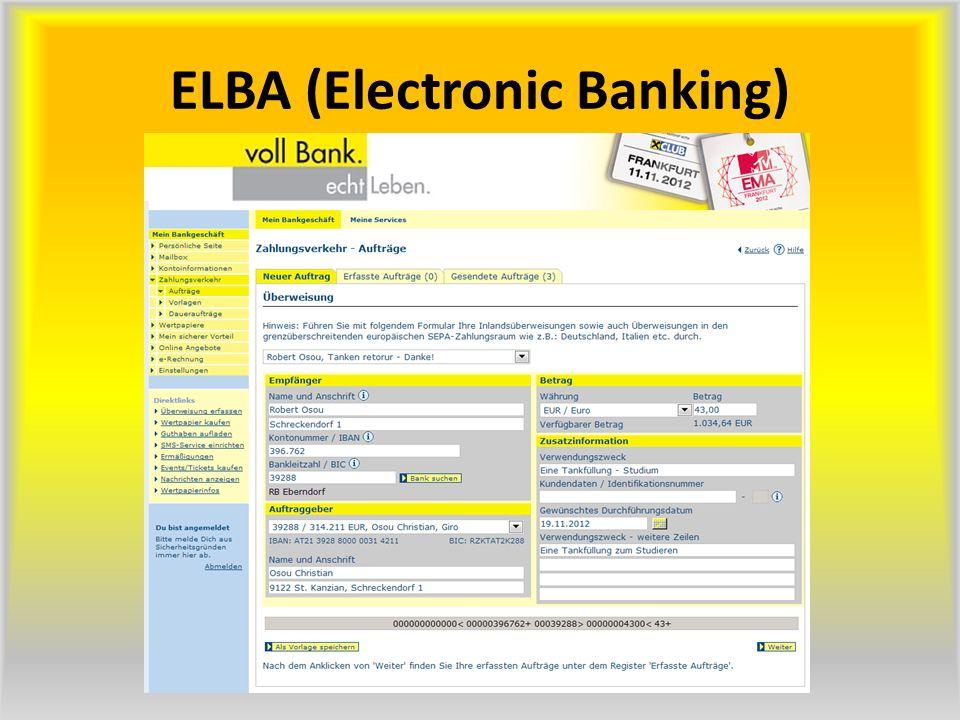 ELBA (Electronic Banking)