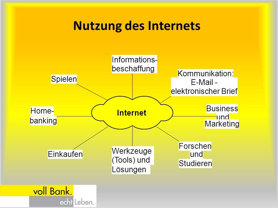 Nutzung des Internets Forschen und Studieren Werkzeuge (Tools) und