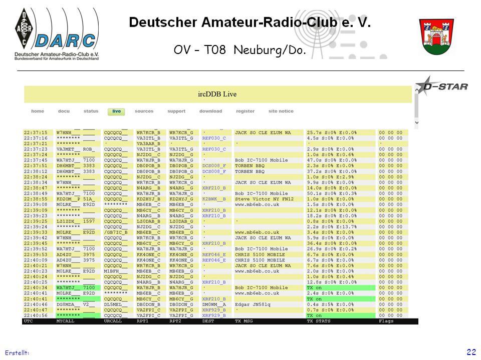OV – T08 Neuburg/Do. Erstellt: 22