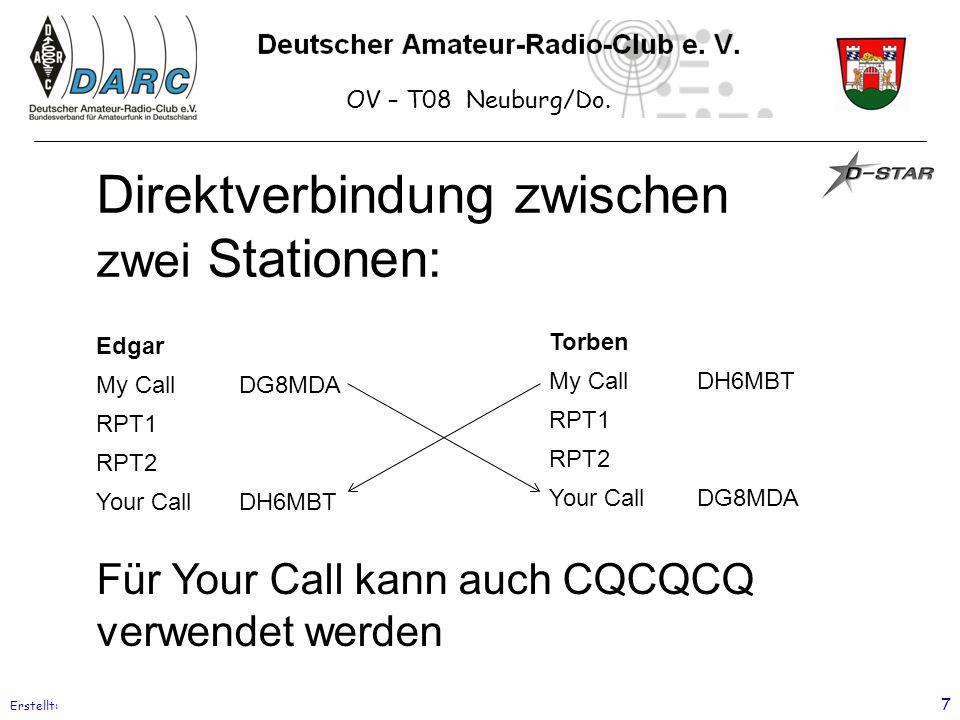 Direktverbindung zwischen zwei Stationen: