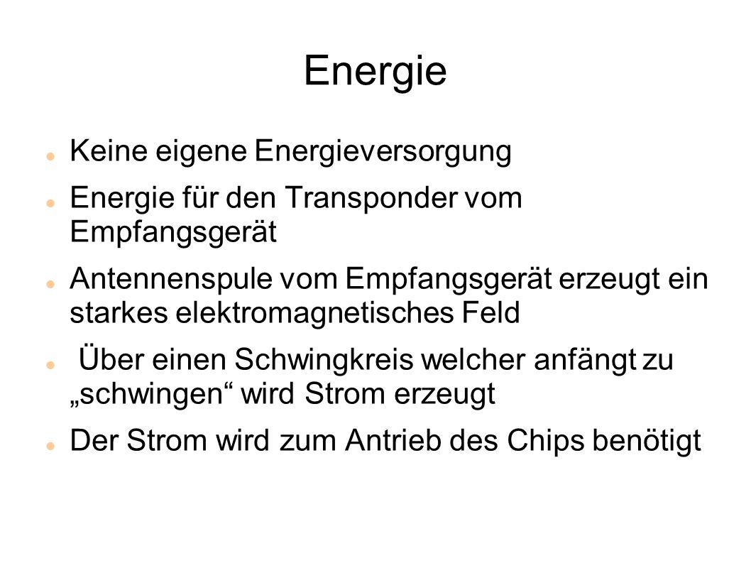 Energie Keine eigene Energieversorgung