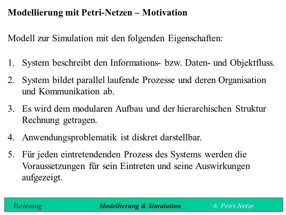 Modellierung mit Petri-Netzen – Motivation