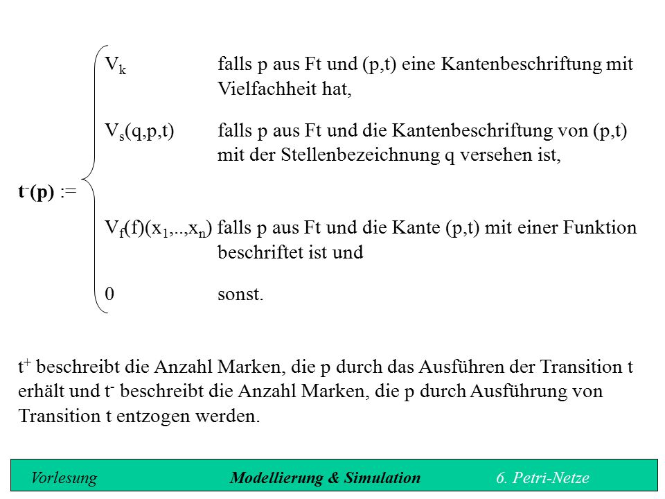 Vk. falls p aus Ft und (p,t) eine Kantenbeschriftung mit
