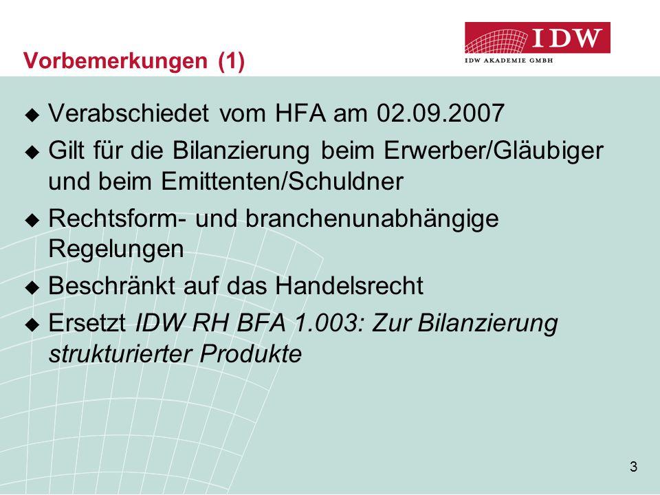 Verabschiedet vom HFA am 02.09.2007