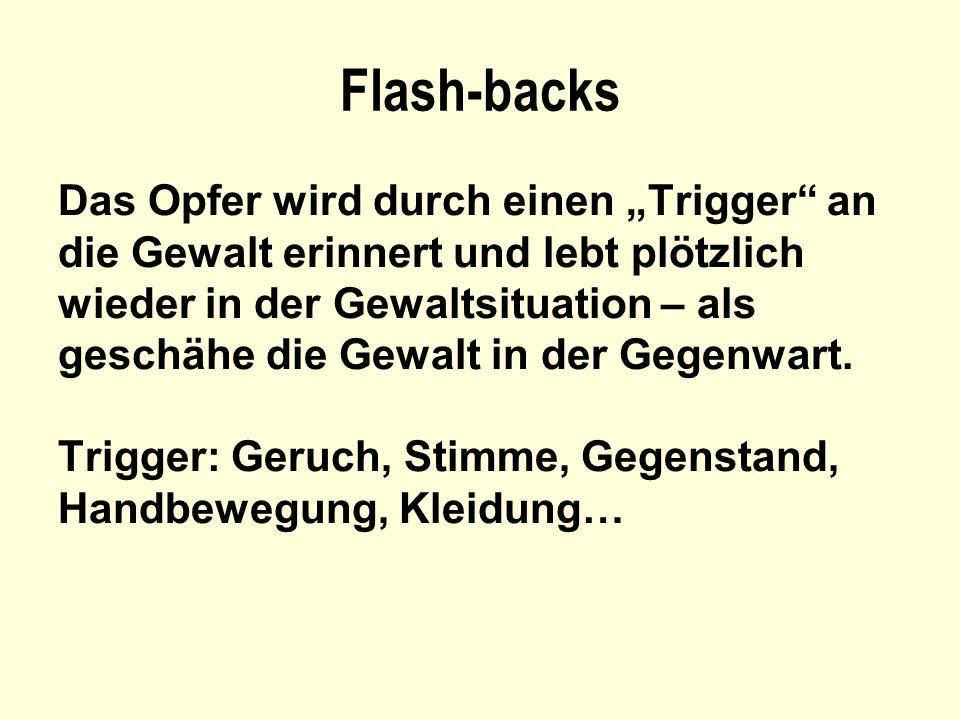 """Flash-backs Das Opfer wird durch einen """"Trigger an"""