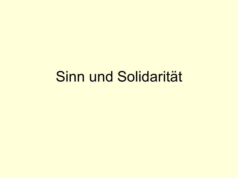 Sinn und Solidarität
