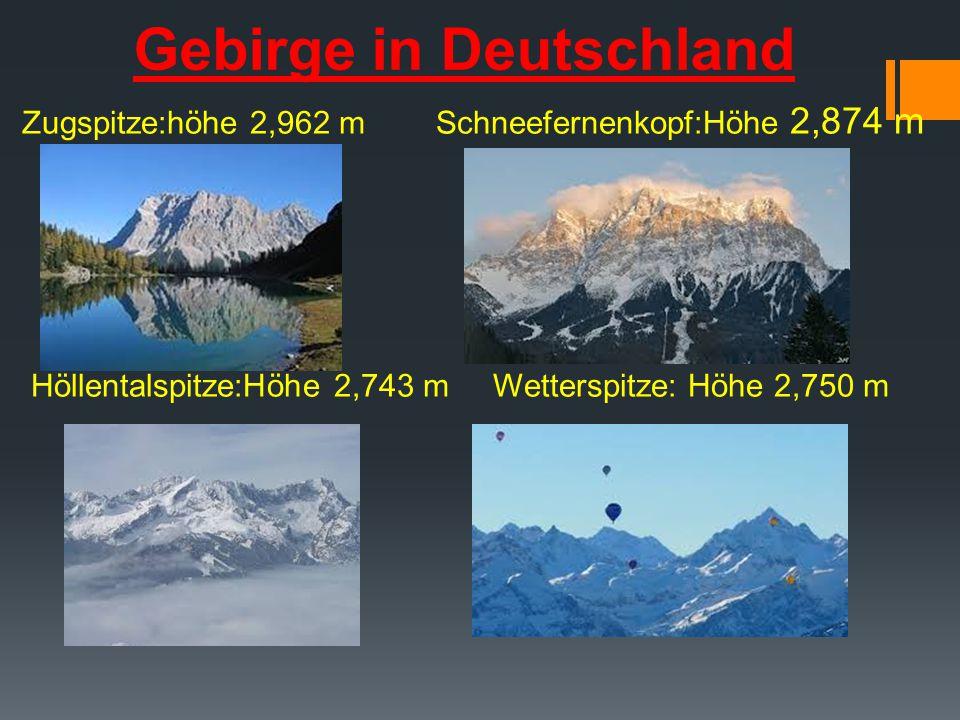Gebirge in Deutschland