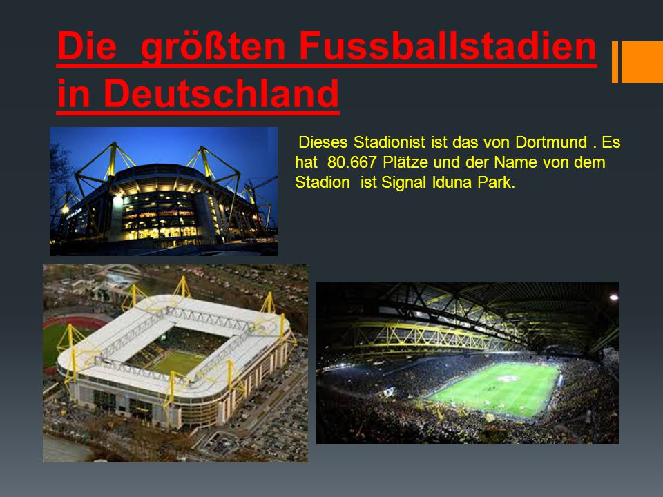 Die größten Fussballstadien in Deutschland