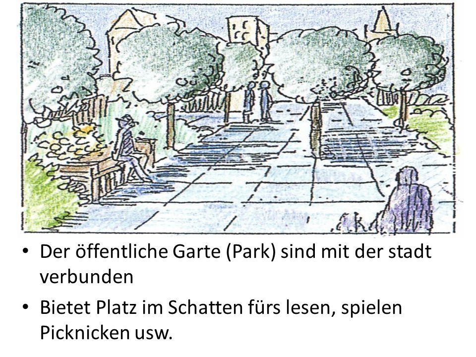 Der öffentliche Garte (Park) sind mit der stadt verbunden