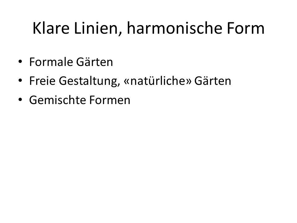 Klare Linien, harmonische Form