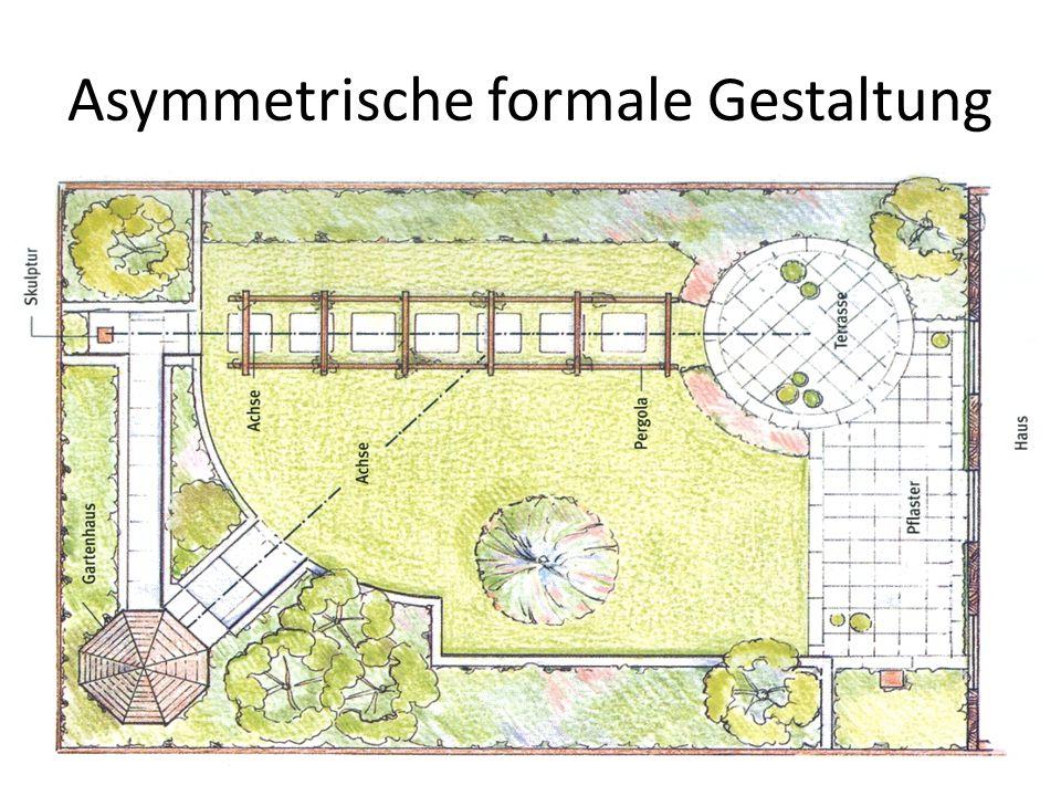 Asymmetrische formale Gestaltung