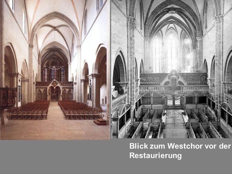 Blick zum Westchor vor der Restaurierung