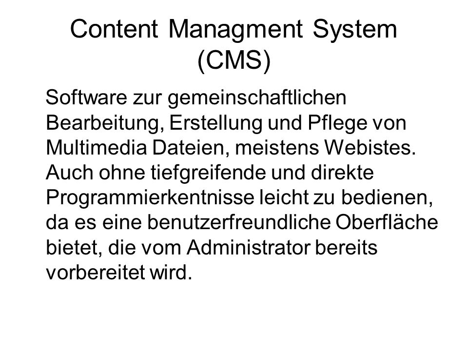 Content Managment System (CMS)