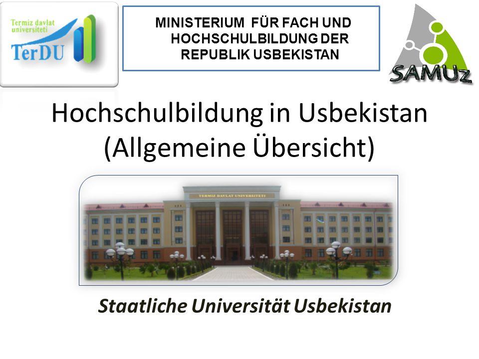 Hochschulbildung in Usbekistan (Allgemeine Übersicht)