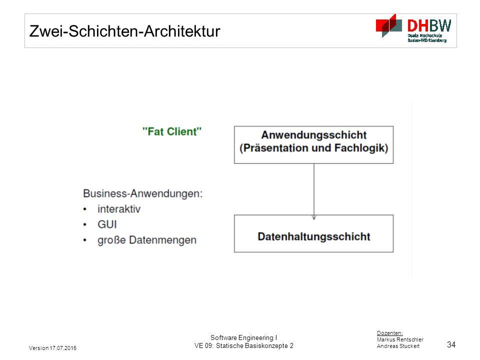 Zwei-Schichten-Architektur