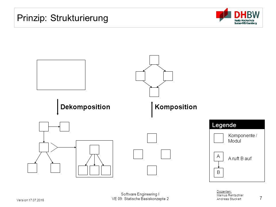 Prinzip: Strukturierung