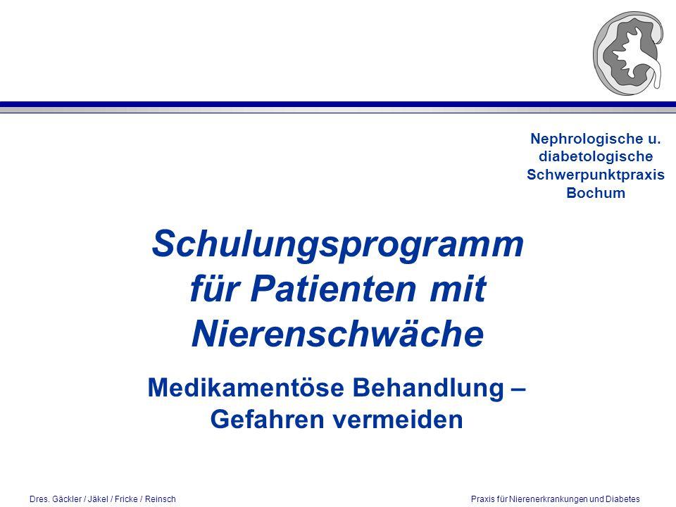 Schulungsprogramm für Patienten mit Nierenschwäche