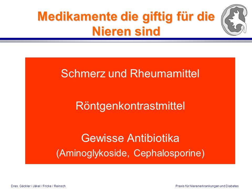 Medikamente die giftig für die Nieren sind