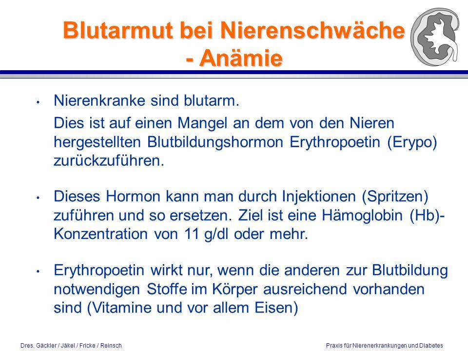 Blutarmut bei Nierenschwäche - Anämie