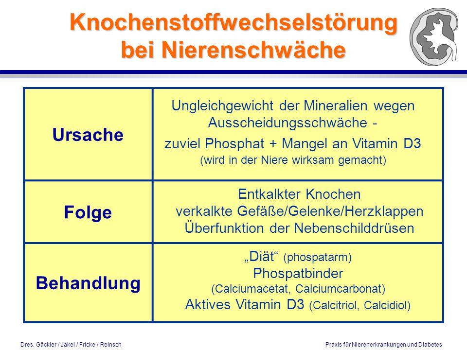 Knochenstoffwechselstörung bei Nierenschwäche