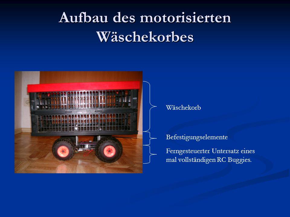 Aufbau des motorisierten Wäschekorbes