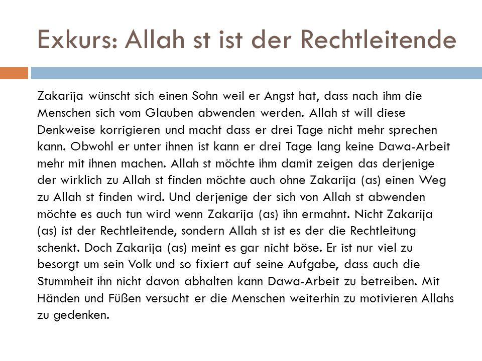 Exkurs: Allah st ist der Rechtleitende