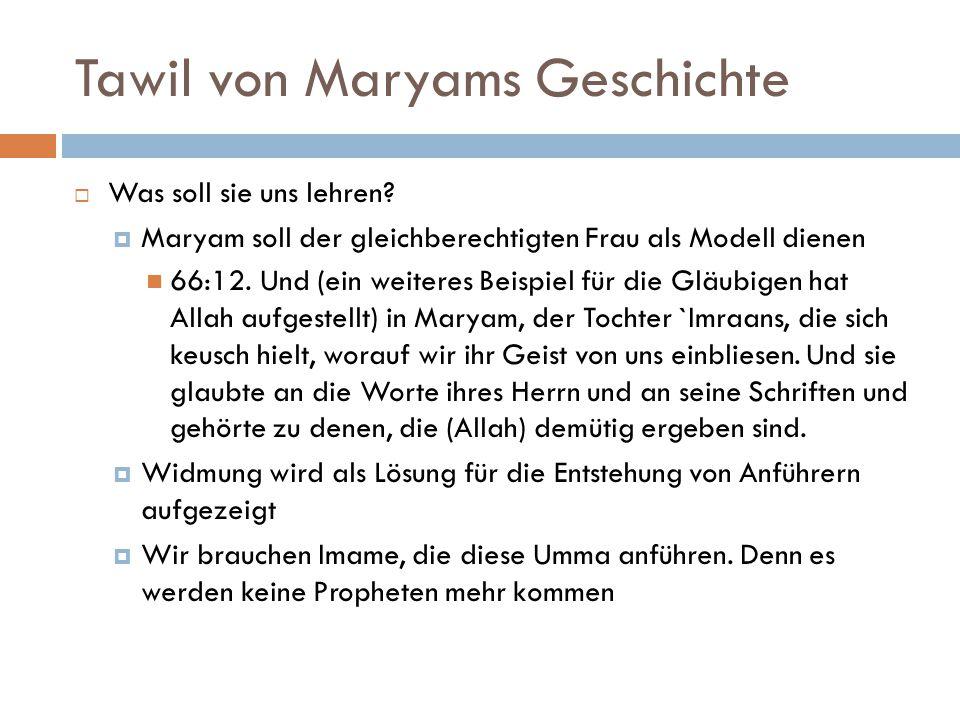 Tawil von Maryams Geschichte