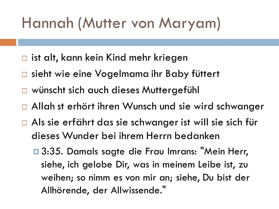 Hannah (Mutter von Maryam)