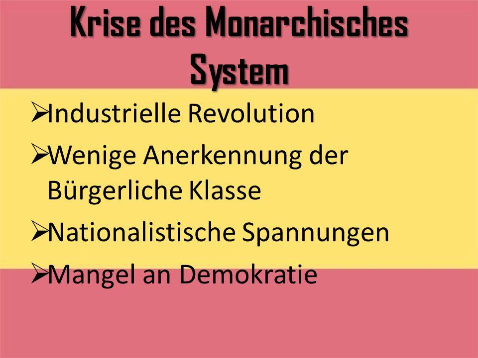 Krise des Monarchisches System
