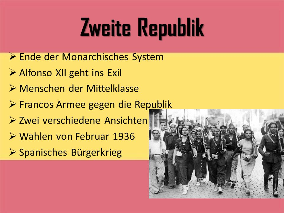 Zweite Republik Ende der Monarchisches System