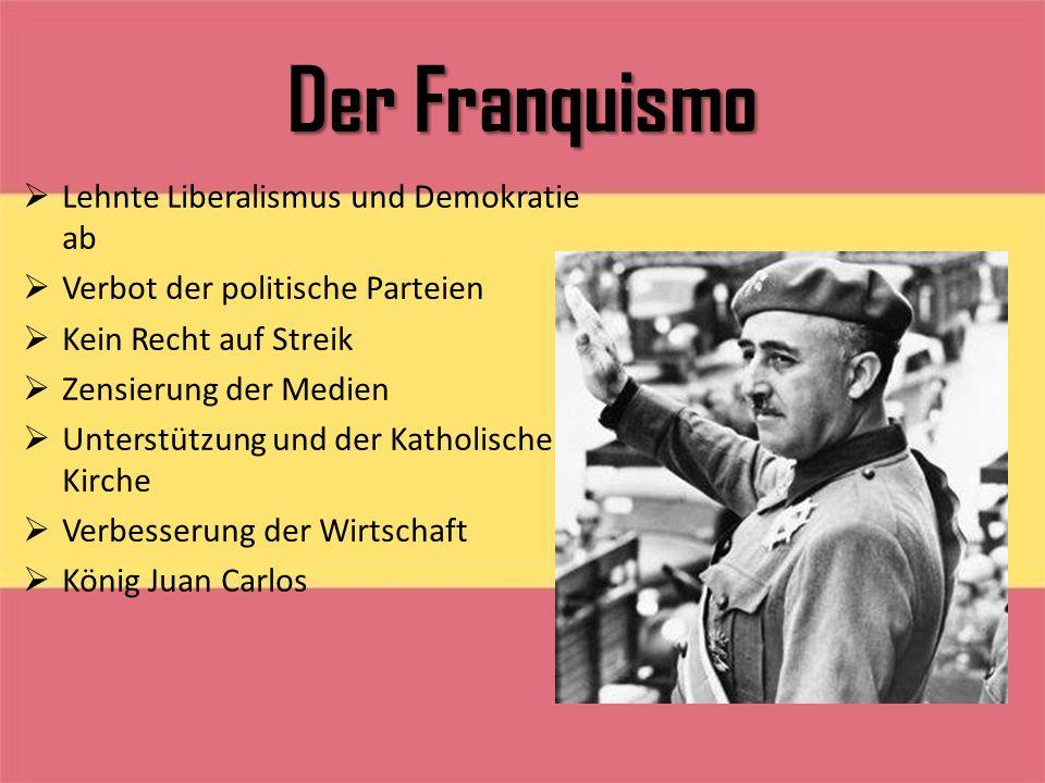 Der Franquismo Lehnte Liberalismus und Demokratie ab
