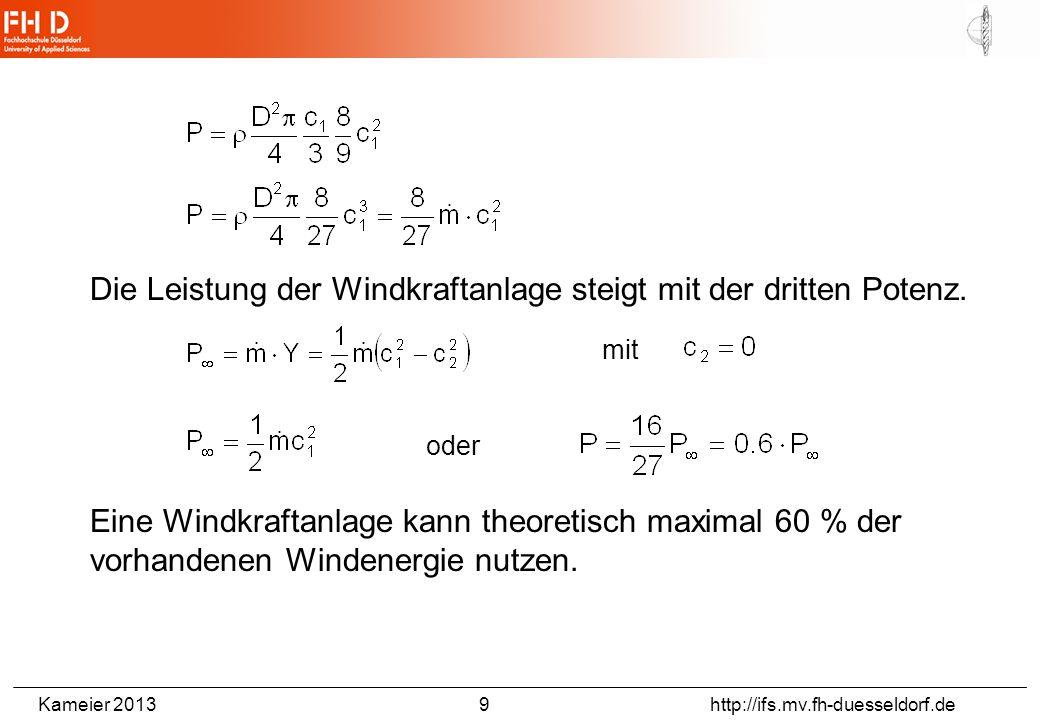 Geschwindigkeitsdreiecke nach der Theorie von Schmitz und Betz, in Anlehnung an Gasch (2007)/1/, rot=Eintritt, grün=Rotorebene(fiktiv), blau=Austritt (Steinberg, Bachelor-Thesis, FHD, 2013)
