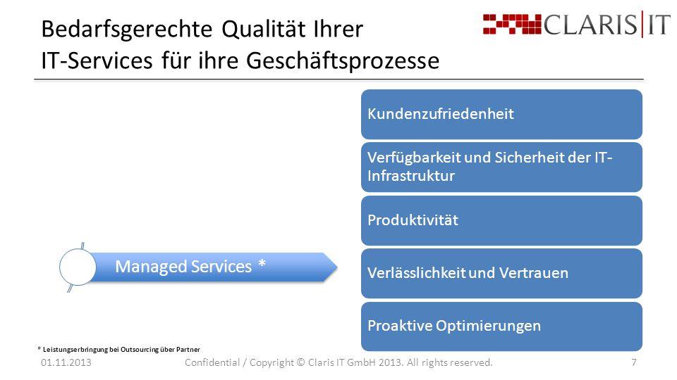 Bedarfsgerechte Qualität Ihrer IT-Services für ihre Geschäftsprozesse