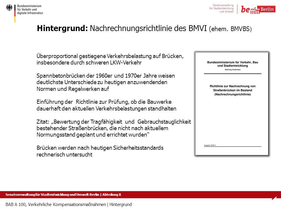 Hintergrund: Nachrechnungsrichtlinie des BMVI (ehem. BMVBS)