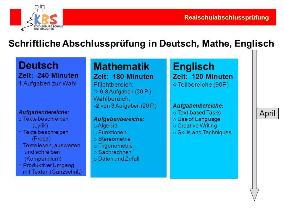 Deutsch Mathematik Englisch