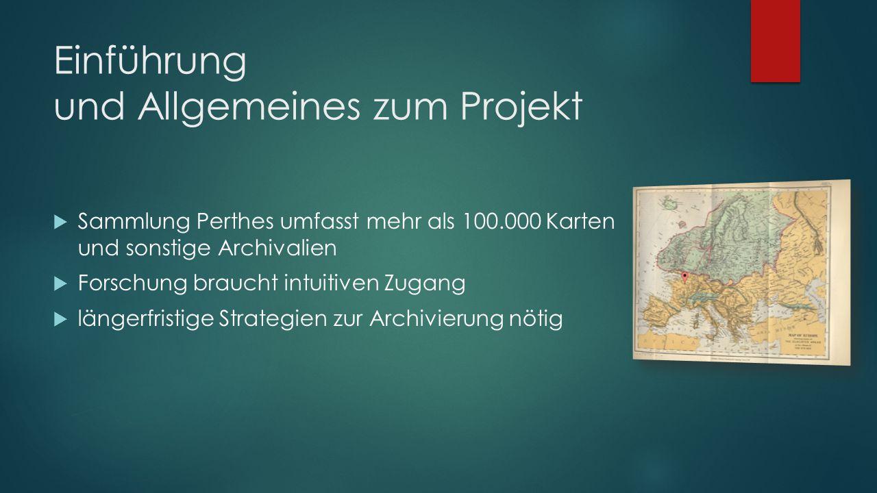 Einführung und Allgemeines zum Projekt