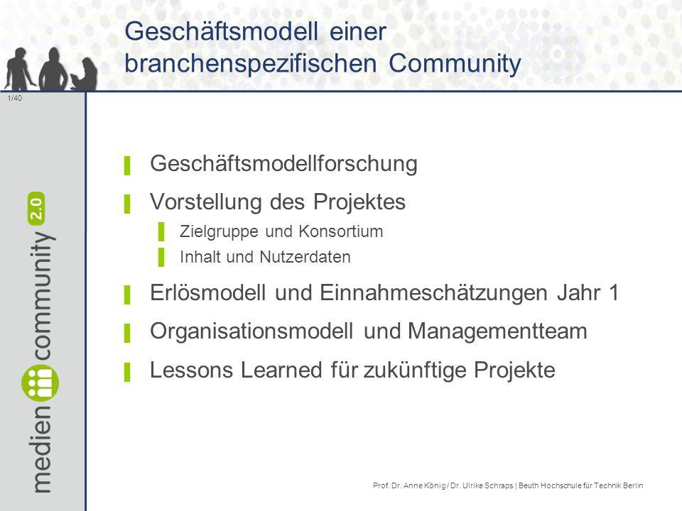 Geschäftsmodell einer branchenspezifischen Community