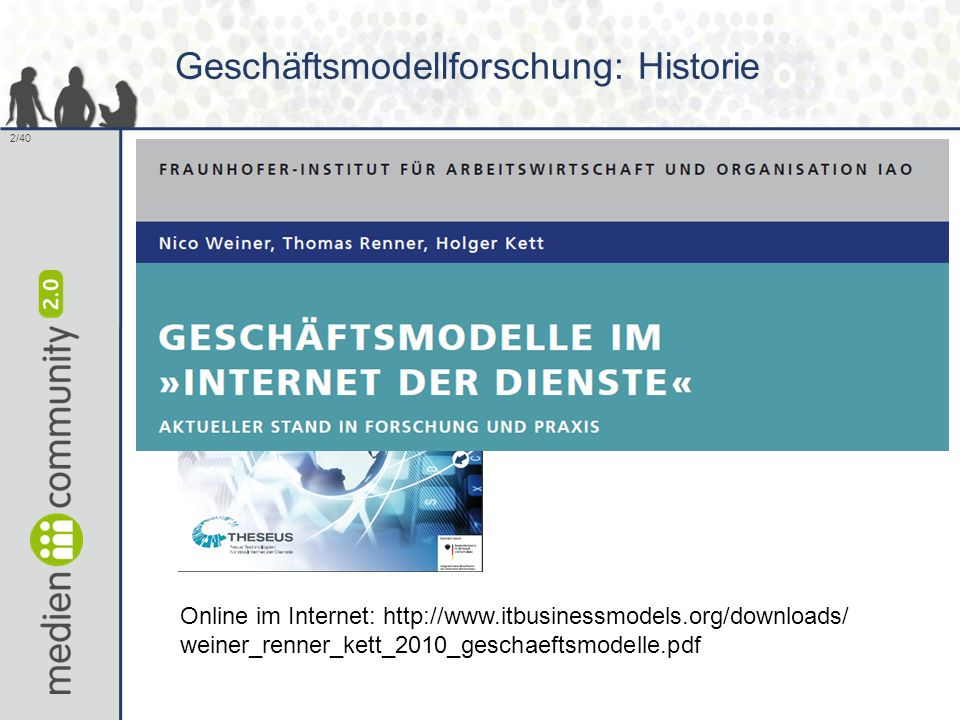 Geschäftsmodellforschung: Historie