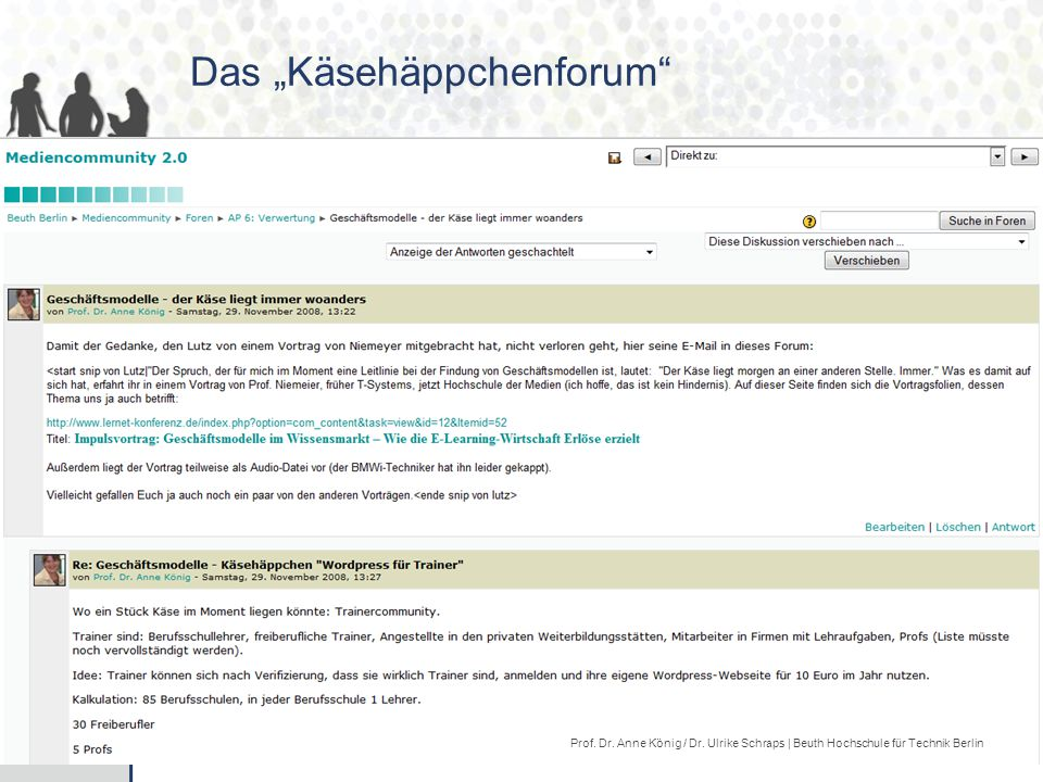 """Das """"Käsehäppchenforum"""