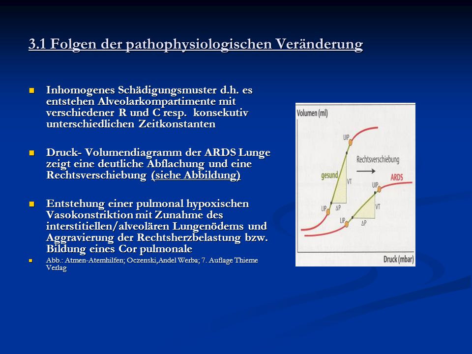 3.1 Folgen der pathophysiologischen Veränderung